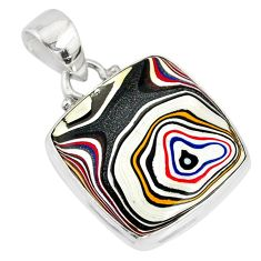 9.65cts fordite detroit agate 925 sterling silver pendant jewelry r77927