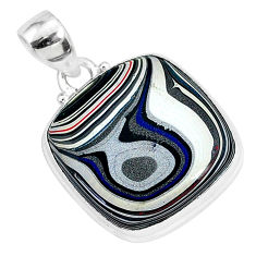 12.58cts fordite detroit agate 925 sterling silver handmade pendant r92625