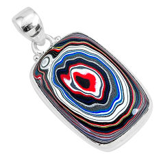 12.58cts fordite detroit agate 925 sterling silver handmade pendant r92630