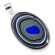 13.62cts fordite detroit agate 925 sterling silver handmade pendant r92633