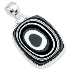 12.18cts fordite detroit agate 925 sterling silver handmade pendant r92635