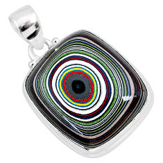 14.12cts fordite detroit agate 925 sterling silver handmade pendant r92639