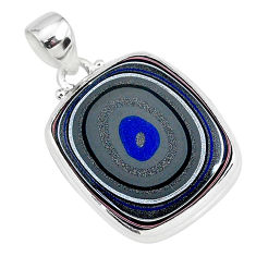 12.22cts fordite detroit agate 925 sterling silver handmade pendant r92643