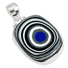 12.22cts fordite detroit agate 925 sterling silver handmade pendant r92650