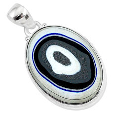 11.73cts fordite detroit agate 925 sterling silver handmade pendant r92654