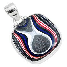 11.73cts fordite detroit agate 925 sterling silver handmade pendant r92655
