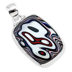 12.22cts fordite detroit agate 925 sterling silver handmade pendant r92658