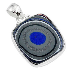 12.58cts fordite detroit agate 925 sterling silver handmade pendant r92662