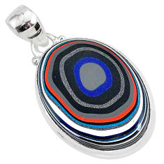 12.22cts fordite detroit agate 925 sterling silver handmade pendant r92668