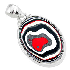 12.18cts fordite detroit agate 925 sterling silver handmade pendant r92672