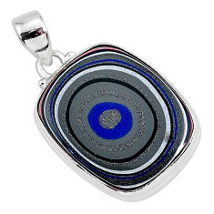 13.15cts fordite detroit agate 925 sterling silver handmade pendant r92679