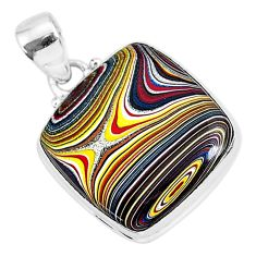 11.17cts fordite detroit agate 925 sterling silver handmade pendant r92688