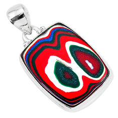 11.73cts fordite detroit agate 925 sterling silver handmade pendant r92690