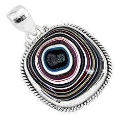 12.58cts fordite detroit agate 925 sterling silver handmade pendant r92699