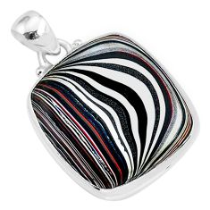 11.57cts fordite detroit agate 925 sterling silver handmade pendant r92705