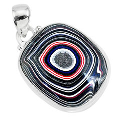10.65cts fordite detroit agate 925 sterling silver handmade pendant r92709