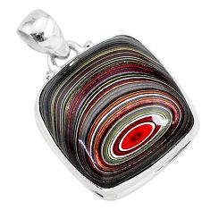 11.73cts fordite detroit agate 925 sterling silver handmade pendant r92712