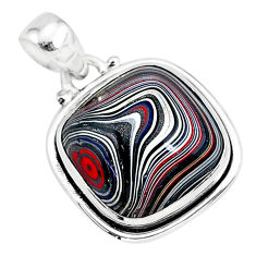 11.57cts fordite detroit agate 925 sterling silver handmade pendant r92713