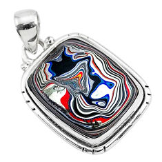 11.17cts fordite detroit agate 925 sterling silver handmade pendant r92715