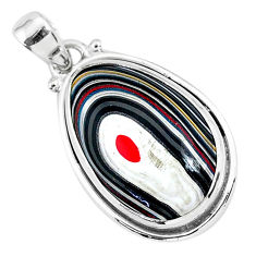 11.60cts fordite detroit agate 925 sterling silver handmade pendant r92716