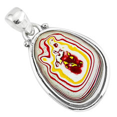 10.60cts fordite detroit agate 925 sterling silver handmade pendant r92719
