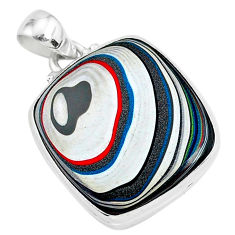 11.17cts fordite detroit agate 925 sterling silver handmade pendant r92728