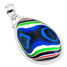 9.22cts fordite detroit agate 925 sterling silver handmade pendant r92732