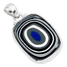 9.65cts fordite detroit agate 925 sterling silver handmade pendant r92737