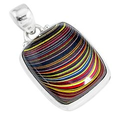 9.72cts fordite detroit agate 925 sterling silver handmade pendant r92741