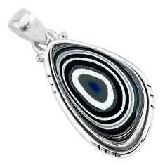 10.08cts fordite detroit agate 925 sterling silver handmade pendant r92757