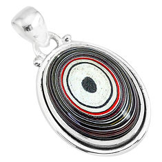 10.65cts fordite detroit agate 925 sterling silver handmade pendant r92765