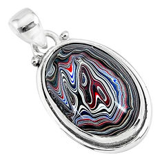 9.72cts fordite detroit agate 925 sterling silver handmade pendant r92776