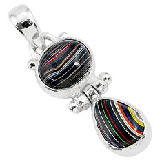 6.27cts fordite detroit agate 925 sterling silver handmade pendant r92852