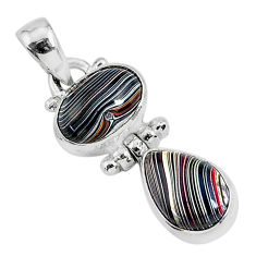 5.44cts fordite detroit agate 925 sterling silver handmade pendant r92866