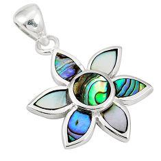 Green abalone paua seashell enamel 925 silver pendant jewelry a75835 c14464