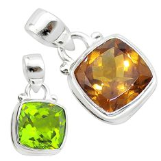 5.23cts green alexandrite (lab) 925 sterling silver pendant jewelry t57089