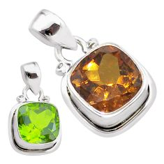 5.63cts green alexandrite (lab) 925 sterling silver pendant jewelry t57129