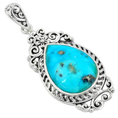 8.33cts green arizona mohave turquoise 925 sterling silver pendant c10830