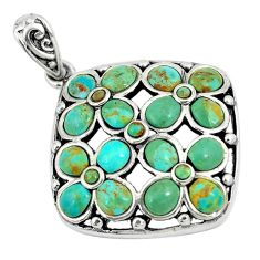 10.67cts green arizona mohave turquoise 925 sterling silver pendant c10860