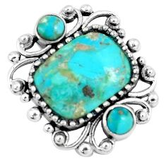 5.52cts green arizona mohave turquoise 925 sterling silver pendant c10863