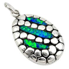 Green australian opal (lab) 925 sterling silver pendant jewelry a74021 c24348