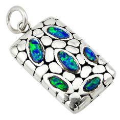 Green australian opal (lab) 925 sterling silver pendant jewelry a74023 c24343