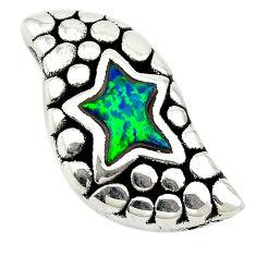Green australian opal (lab) 925 sterling silver pendant jewelry a74041 c24370