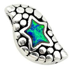 Green australian opal (lab) 925 sterling silver pendant jewelry a74042 c24363