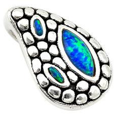 Green australian opal (lab) 925 sterling silver pendant jewelry a74043 c24322