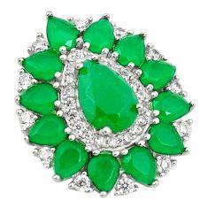 Green chalcedony topaz 925 sterling silver pendant c19052