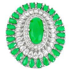 Green emerald quartz topaz 925 sterling silver pendant jewelry c19034