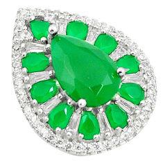 Green emerald quartz topaz 925 sterling silver pendant jewelry c19053