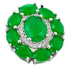 Green emerald quartz topaz 925 sterling silver pendant jewelry c19089