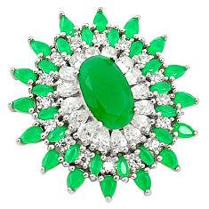 Green emerald quartz topaz 925 sterling silver pendant jewelry c19125